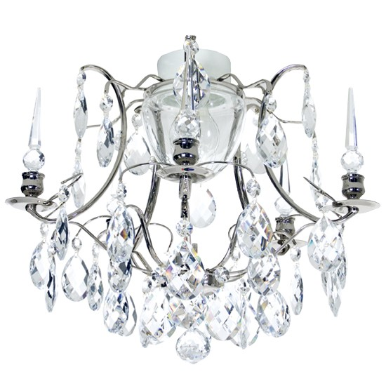 glass bathroom chandelier