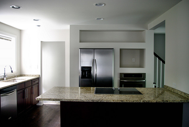 recessed lighting for kitchen work area