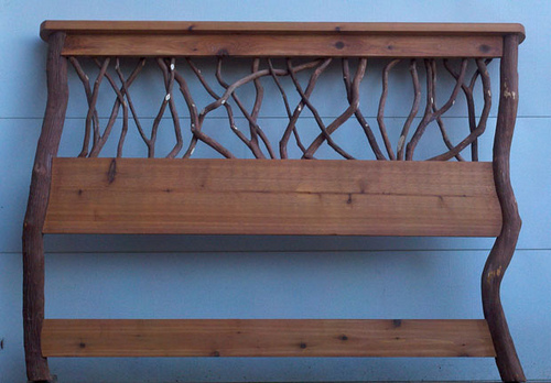 rustic design headboard