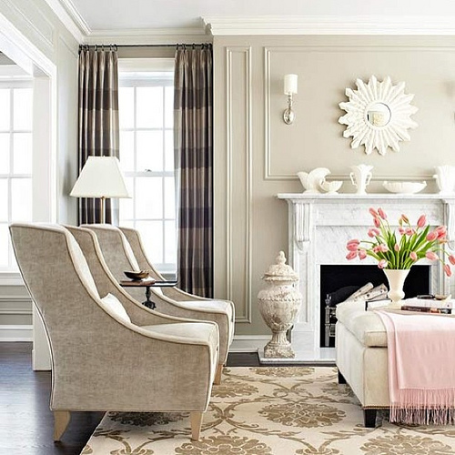 transitional decorating style room