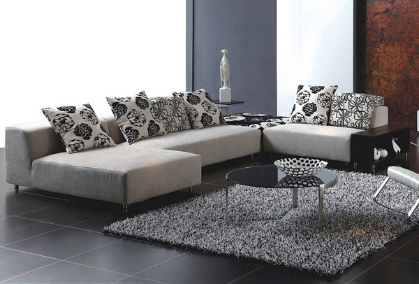 contemporary fabric sectional sofa style