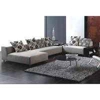 large sectional sofa in a modern living room setting