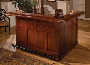 large wooden bar for home
