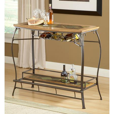 Small elegant home bar with bottom rack