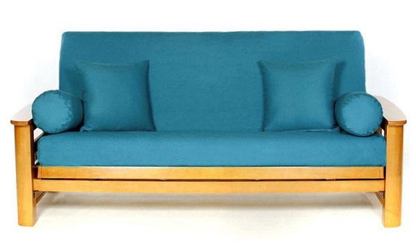 teal color futon cover