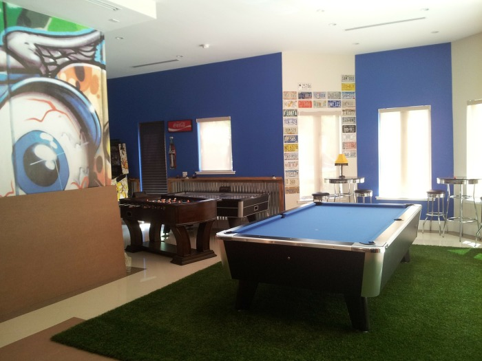 game room decor with pool table