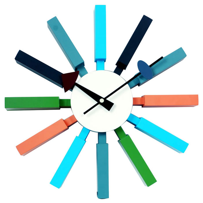 Cool looking Applegate funky Wall clock made by Zuo Modern