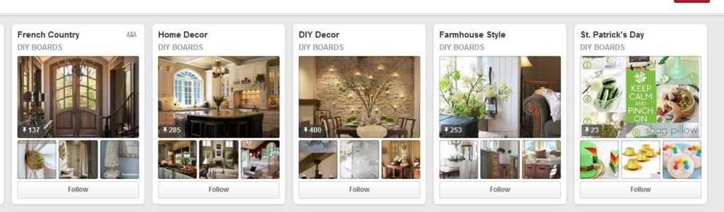 Top home decor pinterest boards