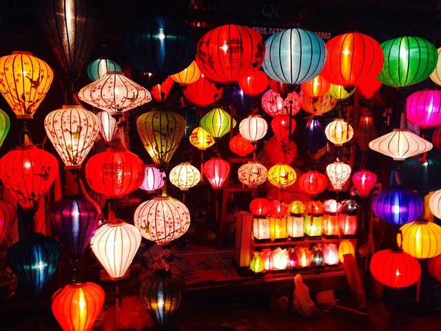 asian style lanterns