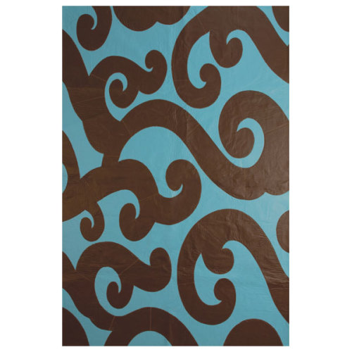modern design blue and brown rug