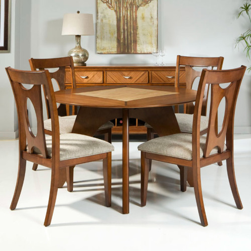 source: Avalon Two-Toned Round Dining Table from DCG Stores