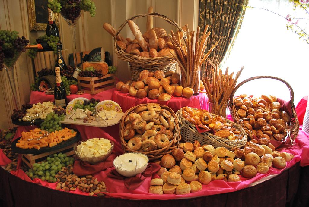 A Beautiful Brunch Buffet Setup